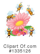 Royalty-Free (RF) Bee Clipart Illustration #1335126