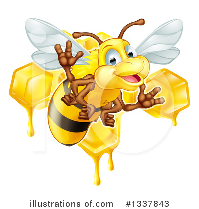 Bee Clipart #1337843 by AtStockIllustration