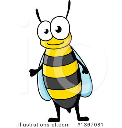 Bee Clipart #1367081 by Vector Tradition SM