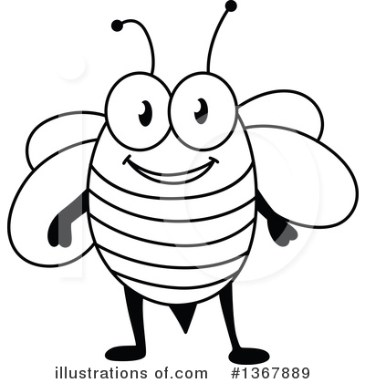 Bee Clipart #1367889 by Vector Tradition SM