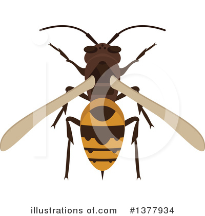 Bee Clipart #1377934 by Vector Tradition SM