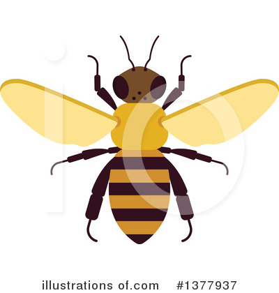 Bee Clipart #1377937 by Vector Tradition SM