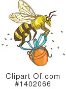 Royalty-Free (RF) Bee Clipart Illustration #1402066