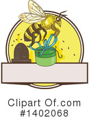 Royalty-Free (RF) Bee Clipart Illustration #1402068