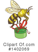 Royalty-Free (RF) Bee Clipart Illustration #1402069