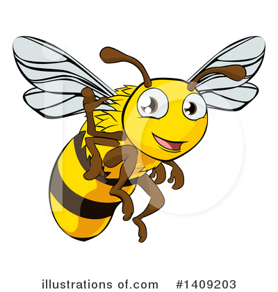 Bee Clipart #1409203 by AtStockIllustration