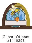 Royalty-Free (RF) Bee Clipart Illustration #1410258