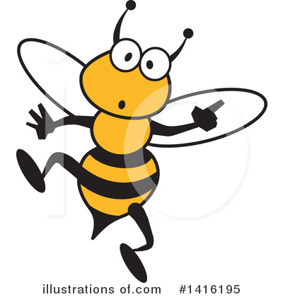 Bee Clipart #1416195 by Johnny Sajem