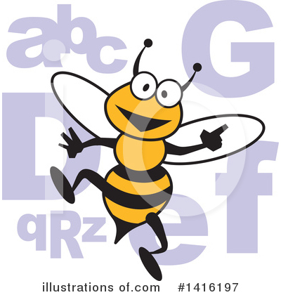 Bee Clipart #1416197 by Johnny Sajem