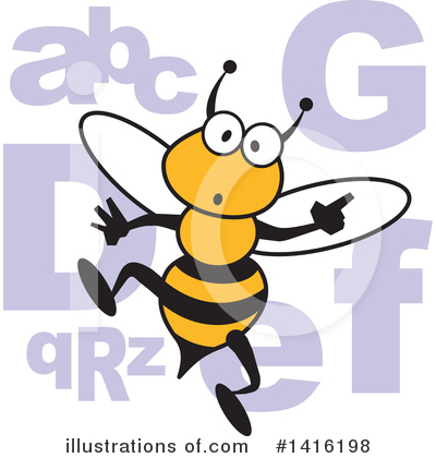 Bee Clipart #1416198 by Johnny Sajem