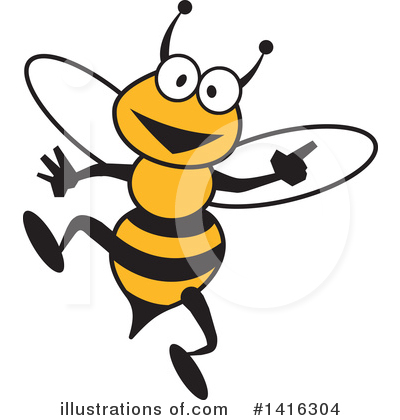 Bee Clipart #1416304 by Johnny Sajem