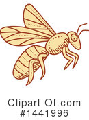 Royalty-Free (RF) Bee Clipart Illustration #1441996