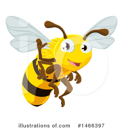 Bee Clipart #1466397 by AtStockIllustration