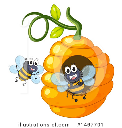 Bee Clipart #1467701 by Graphics RF