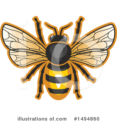Royalty-Free (RF) Bee Clipart Illustration by Vector Tradition SM - Stock Sample #1494860