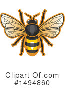 Bee Clipart #1494860 by Vector Tradition SM