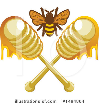 Bee Clipart #1494864 by Vector Tradition SM