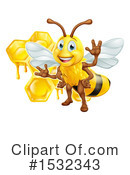 Bee Clipart #1532343 by AtStockIllustration