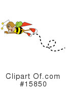 Royalty-Free (RF) Bee Clipart Illustration #15850