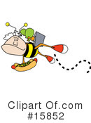 Royalty-Free (RF) Bee Clipart Illustration #15852