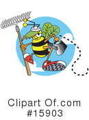 Royalty-Free (RF) Bee Clipart Illustration #15903