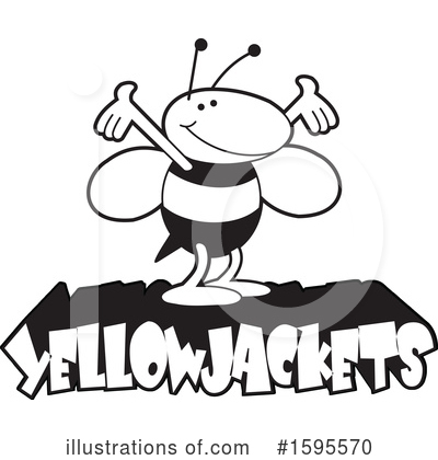 Bee Clipart #1595570 by Johnny Sajem