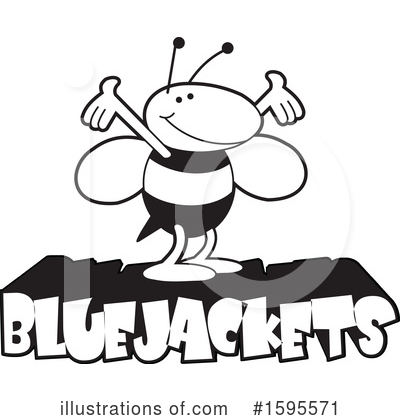 Bee Clipart #1595571 by Johnny Sajem