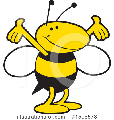 Royalty-Free (RF) Bee Clipart Illustration by Johnny Sajem - Stock Sample #1595578