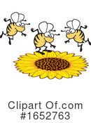 Bee Clipart #1652763 by Johnny Sajem