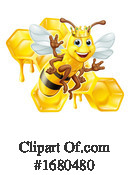 Bee Clipart #1680480 by AtStockIllustration