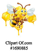 Bee Clipart #1690885 by AtStockIllustration