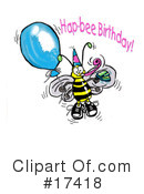 Royalty-Free (RF) Bee Clipart Illustration #17418