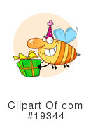 Royalty-Free (RF) Bee Clipart Illustration #19344