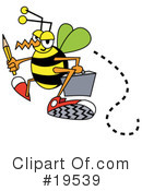 Royalty-Free (RF) Bee Clipart Illustration #19539