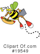 Royalty-Free (RF) Bee Clipart Illustration #19549