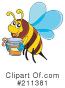 Royalty-Free (RF) Bee Clipart Illustration #211381