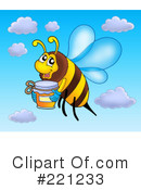 Royalty-Free (RF) Bee Clipart Illustration #221233