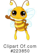 Royalty-Free (RF) Bee Clipart Illustration #223850