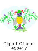 Royalty-Free (RF) Bee Clipart Illustration #30417