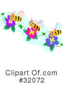 Royalty-Free (RF) Bee Clipart Illustration #32072
