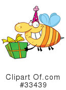 Royalty-Free (RF) Bee Clipart Illustration #33439