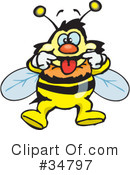 Bee Clipart #34797 by Dennis Holmes Designs