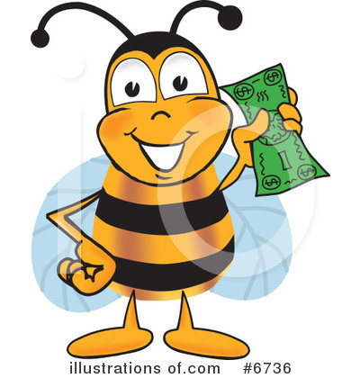 Bee Clipart #6736 by Toons4Biz