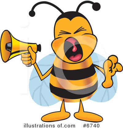 Bee Clipart #6740 by Toons4Biz