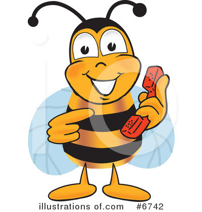 Bee Clipart #6742 by Toons4Biz