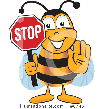 Royalty-Free (RF) Bee Clipart Illustration by Toons4Biz - Stock Sample #6745