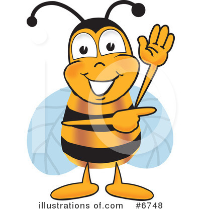 Bee Clipart #6748 by Toons4Biz