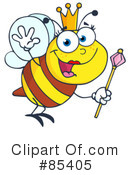 Royalty-Free (RF) Bee Clipart Illustration #85405