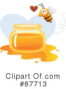 Royalty-Free (RF) Bee Clipart Illustration #87713