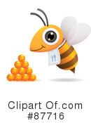 Royalty-Free (RF) Bee Clipart Illustration #87716